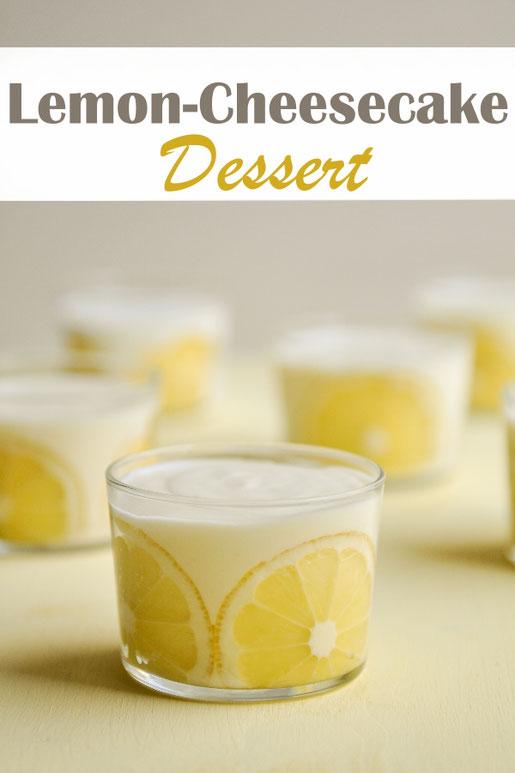 Leckeres sommerliches Lemon Cheesecake Dessert, vegan möglich, Thermomix