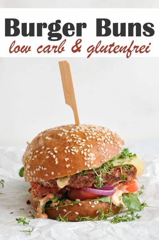 Genuss ohne Reue mit glutenfreien & low carb Burger Buns, aus Eiern, Hüttenkäse und Flohsamenschalen, Thermomix, vegetarisch