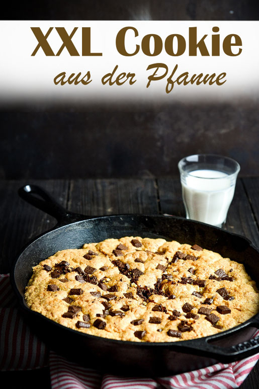 XXL Cookie aus der Pfanne, Skillet Cookie Deep Dish, vegan machbar, z.B. Thermomix