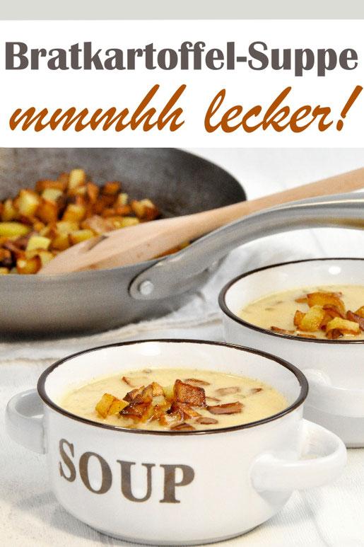 Kartoffelsuppe mit dem gewissen Extra ist diese Bratkartoffel-Suppe! Ganz simpel und einfach gut!