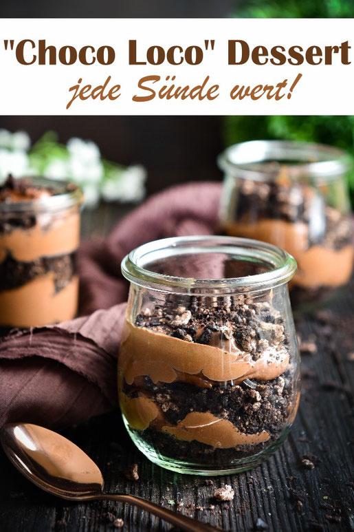 Schokoladen Schicht Dessert für Schoko-Liebhaber aus nur 3 Zutaten - jede Sünde wert! Zum Geburtstag, Ostern, Osterbrunch, Weihnachten, Nachtisch, wenn Gäste kommen oder einfach mal so, vegan möglich, Thermomix