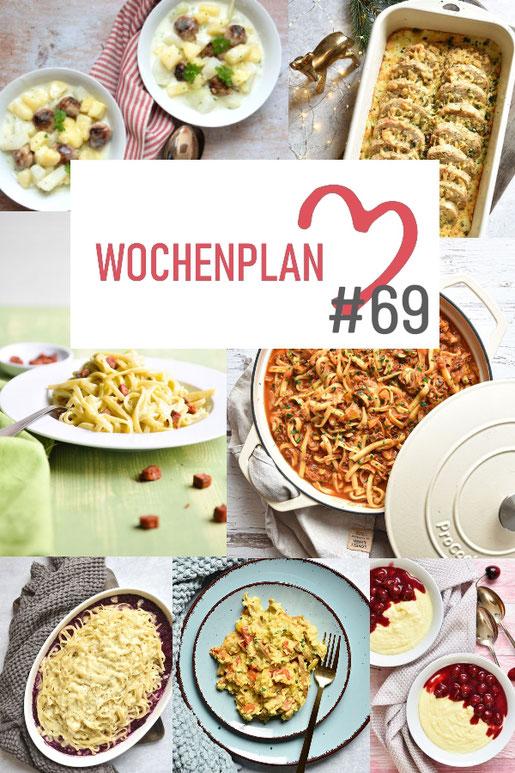 Was soll es die Woche bloß zu essen geben? Ich habe dir hier eine ganze Woche an leckeren Rezepten zusammengestellt - du kannst sie alle vegan oder vegetarisch kochen - der mix dich glücklich Wochenplan für den Thermomix - Nummer 69
