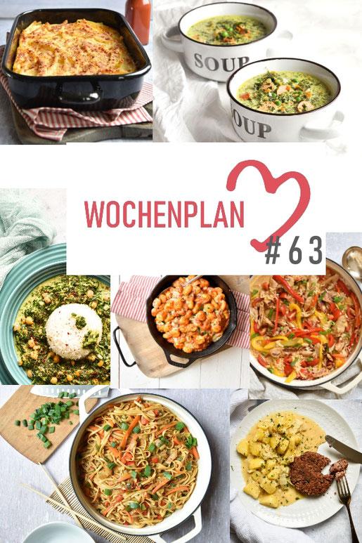 Was soll es die Woche bloß zu essen geben? Ich habe dir hier eine ganze Woche an leckeren Rezepten zusammengestellt - du kannst sie alle vegan oder vegetarisch kochen - der mix dich glücklich Wochenplan für den Thermomix - Nummer 63