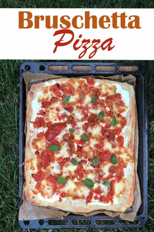 Eine Mischung aus Bruschetta, Pizza und Flammkuchen - super lecker, mal was anderes, schmeckt auch kalt, vegetarisch, vegan machbar, Thermomix