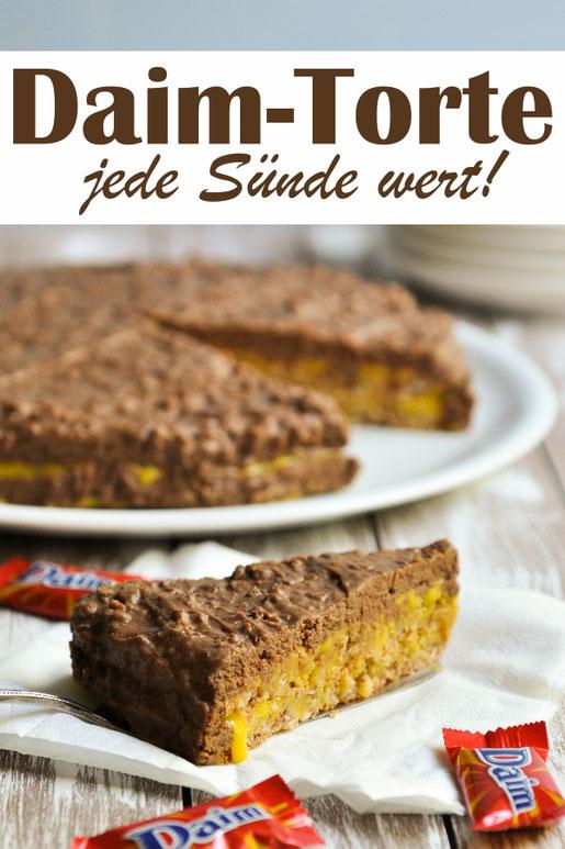 Super leckere Daim Torte, selbst gemacht, glutenfrei, jede Sünde wert, Thermomix, Geburtstagskuchen