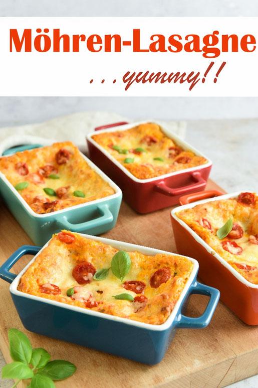 Möhren Lasagne, mal etwas anderes zu klassischer Lasagne oder Gemüselasagne, in kleinen Förmchen super, wenn Gäste kommen, vegetarisch, vegan möglich, Thermomix