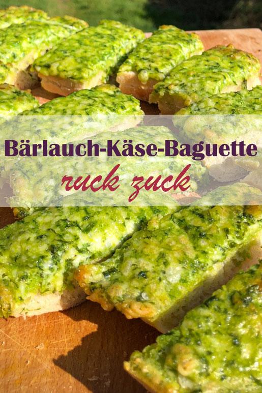 Bärlauch Käse Baguette ruck zuck selber gemacht mit Bärlauchpaste aus dem Vorrat, Thermomix