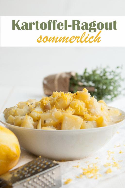 Sommerliches Kartofferagout mit Zitrone und Thymian, vegetarisch, Thermomix
