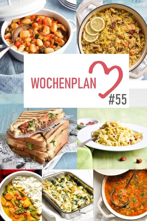 Was soll es die Woche bloß zu essen geben? Ich habe dir hier eine ganze Woche an leckeren Rezepten zusammengestellt - du kannst sie alle vegan oder vegetarisch kochen - der mix dich glücklich Wochenplan für den Thermomix - Nummer 55
