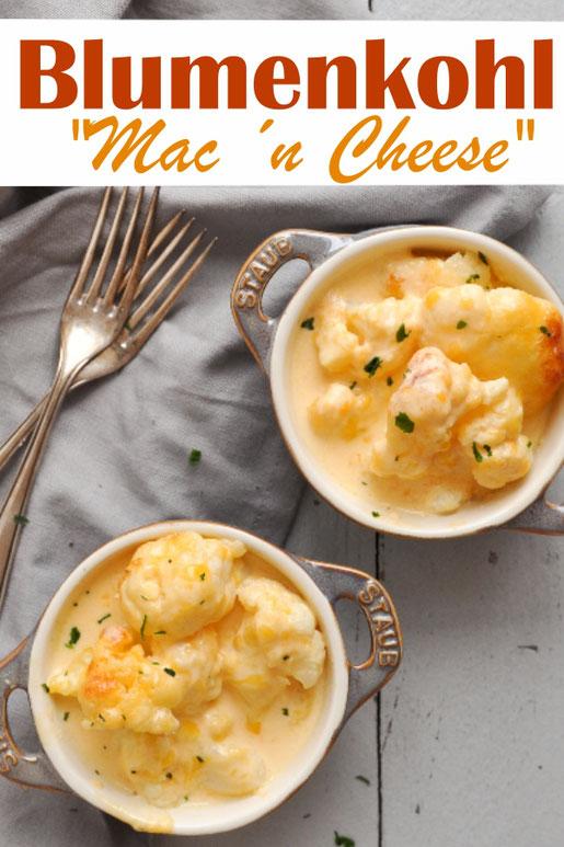 Gemüse mal anders, z.B. Blumenkohl gebacken in einer Käsesoße à la Mac ´n Cheese, vegan möglich, vegetarisch, Thermomix