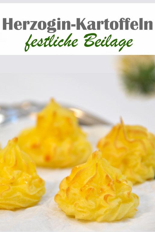 Herzogin Kartoffeln, einfach zu machen, vegetarische Beilage, vegan möglich