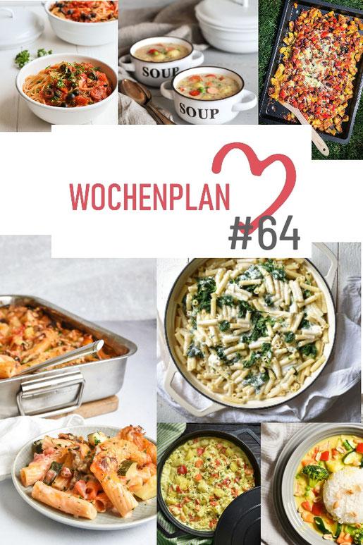 Was soll es die Woche bloß zu essen geben? Ich habe dir hier eine ganze Woche an leckeren Rezepten zusammengestellt - du kannst sie alle vegan oder vegetarisch kochen - der mix dich glücklich Wochenplan für den Thermomix - Nummer 64