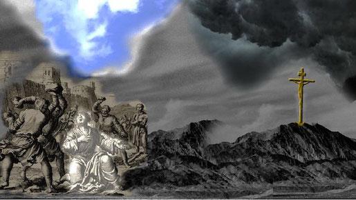 Het verhaal van Stefanus contrasteert sterk met dat van Jezus