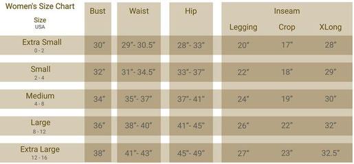 """Te sugerimos revisar esta tabla de tallas y medidas para tener una mejor referencia sobre qué talla escoger. (Recuerda que 1"""" = 2.54 cm)"""