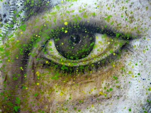 Augenprothetik-Kunstbild gemalt von Noah Bach