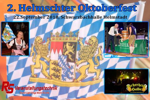 Partyband Sicherheitshalbe auf dem Oktoberfest in Helmstadt am 22. September 2018, verlinkt zum Facebook - Fotoalbum
