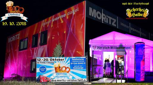 Partyband Sicherheitshalbe auf dem MORITZ Oktoberfest in Ellhofen am 19.10.2018, verlinkt zum Facebook - Fotoalbum