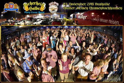 Partyband Sicherheitshalbe auf dem Winzerfest in Wiesloch  am 31.08.2018, verlinkt zum Facebook - Fotoalbum