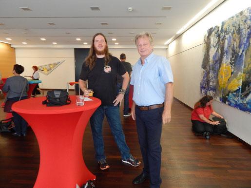 Ruben Loew und Gerhard Zachrau, der in den zurückliegenden Jahren die meisten Ehrungen für Phoenix und RTV Rheinland-Pfalz mit Erfolg beantragt hat.