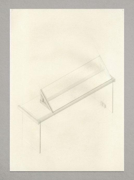 [ Mesa ] Todos los dibujos que componen la pieza superpuestos. Detalle.