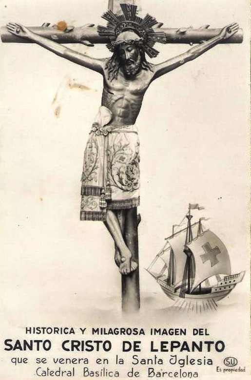 Христос Лепантский в кафедральном соборе Барселоны