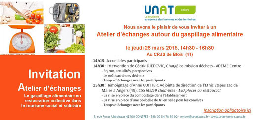Gaspillage alimentaire UNAT Centre