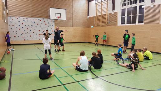 Training in der Hauptmann-von-Köpenick Grundschule