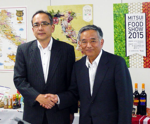 藤吉社長(左)と長原顧問