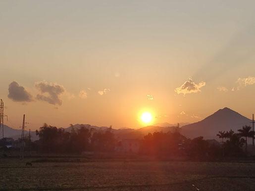 On termine par un beau coucher de soleil !