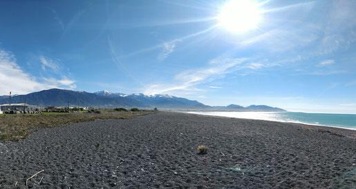 La plage de Kaikoura