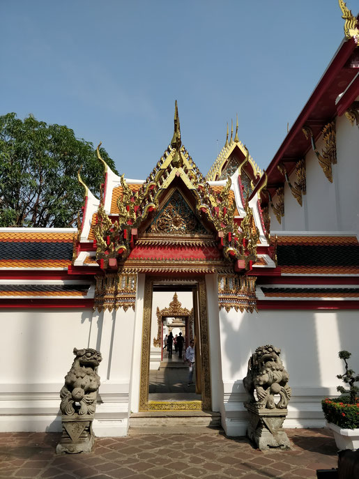 L'entrée vers les différents pavillons