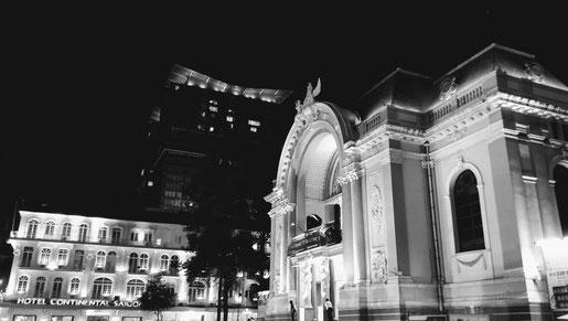 la façade, vue de profil