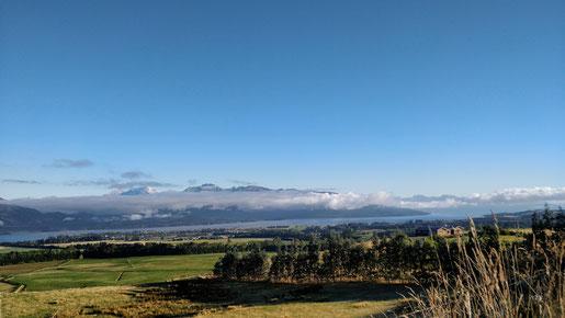 Le lendemain sur les hauteurs de Te Anau