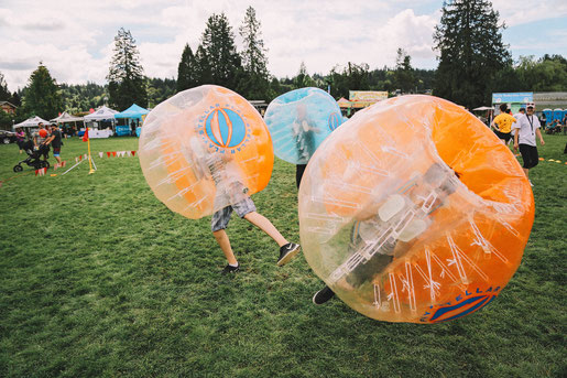 Bubble Soccer at Golden Spikes Festival