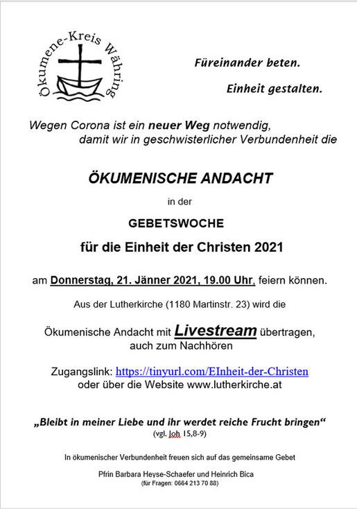 Einladung mit Link zur Livestream Andacht (PDF)