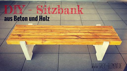 DIY-Anleitung für eine Sitzbank aus Holz und Beton