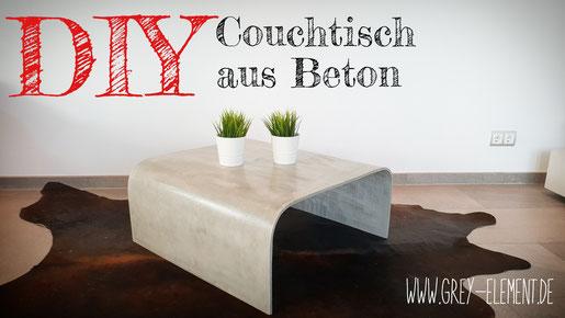 Einen Couchtisch aus Beton selber bauen DIY