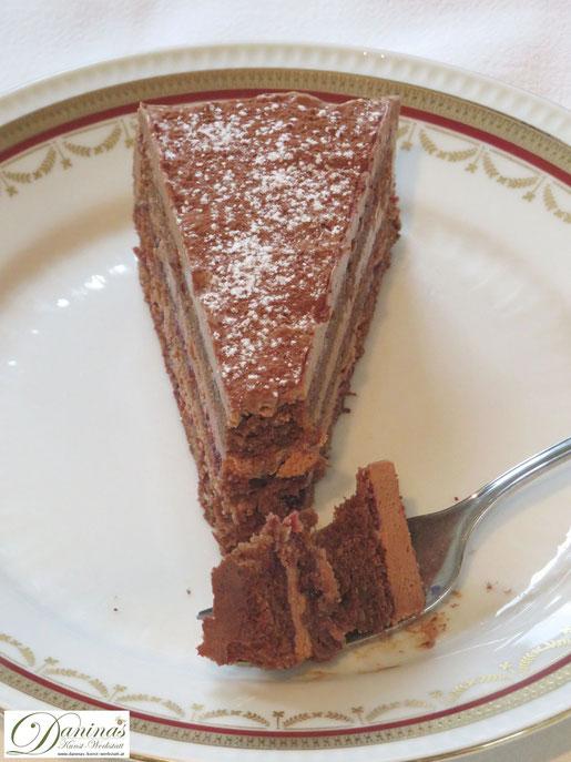 Schoko Mandel Torte Rezept mit Whiskycreme