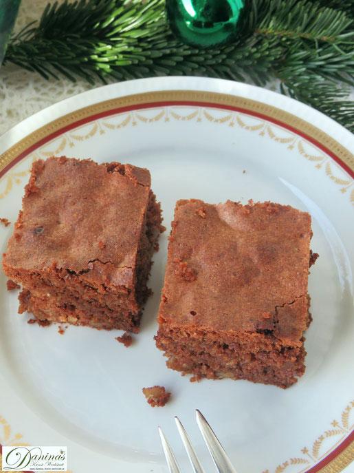 Brownie Rezept mit Nüssen. Weihnachtsbäckerei. Konditor-Rezept by Daninas Dad mit Schritt-für-Schritt Anleitung.
