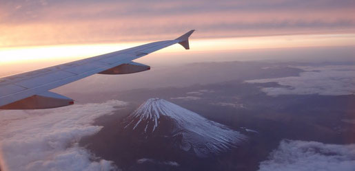 Mont Fuji - vol ANA (sources Panoramio Google)