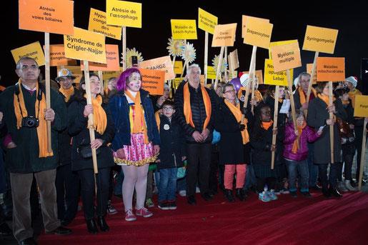 Alain Donnart et les participants à la Marche des Maladies Rares 2015