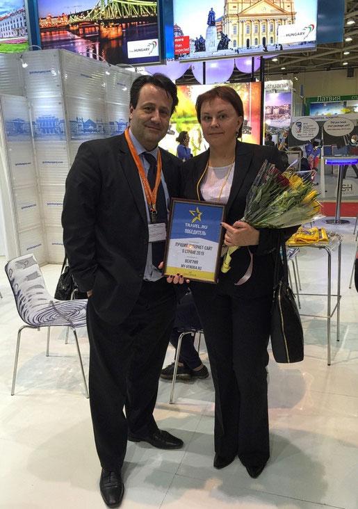 С Советником по туризму Посольства Венгрии в России, Шандором Шабианом