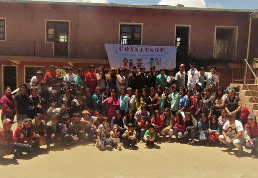 Regionalreffen der CONNATSOP 2018: Hier tagten durch unsere Unterstützung die gewählten Vertreter der arbeitenden Kinder ein Wochenende lang in einem Dorf in der Nähe von Potosí.