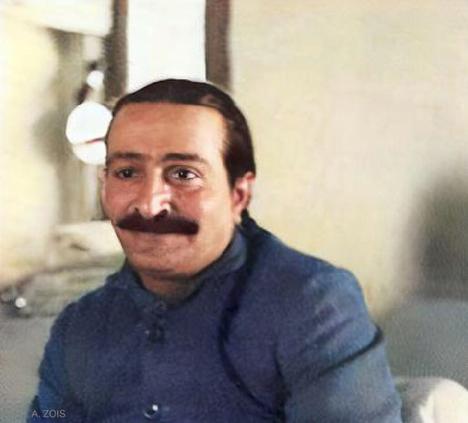 1936 : Meher Baba. Image colourized by Anthony Zois.