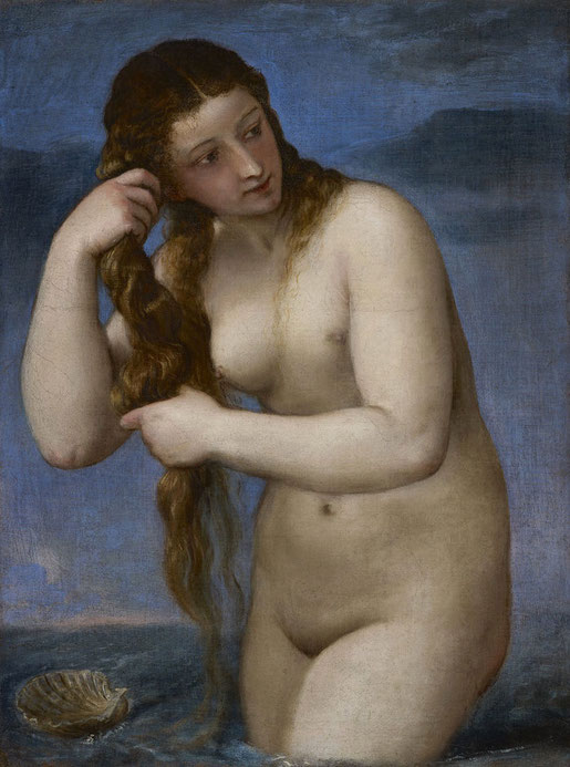 Tizian, Venus Anadyomene, ca. 1520, Edinburgh, National Galleries of Scotland