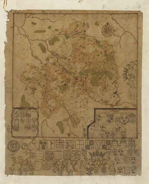 Carte topographique de la baronnie de Preuilly en Touraine, BnF, GED-4530