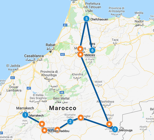 Itinerario Tour in Marocco