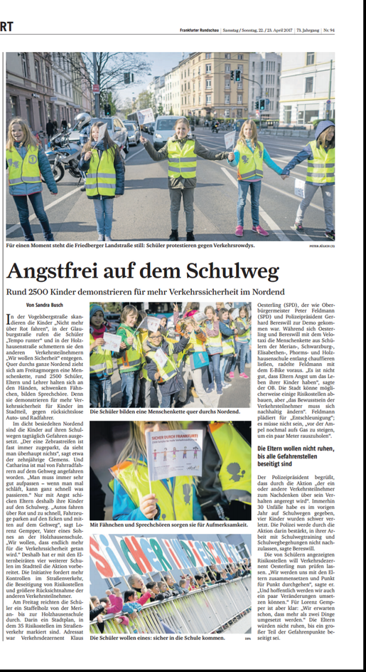 Frankfurter Rundschau, 22. April 2017