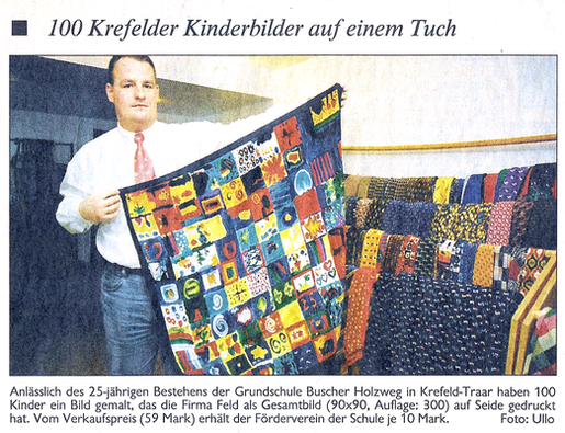 Pressespiegel: Kinder malen ein Seidentuch - Feld Textil GmbH