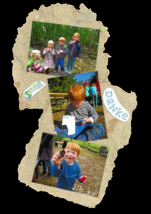Montage Waldkindergarten als Danksagung